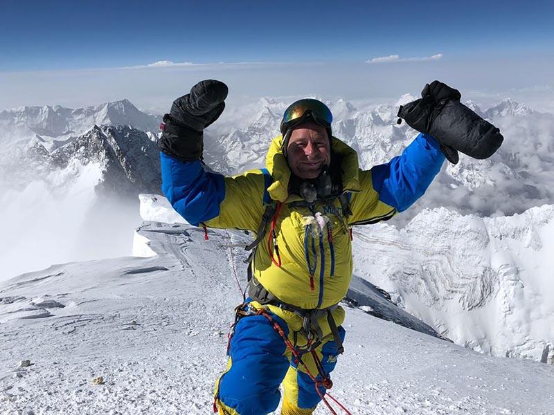 Am Gipfel des Mount Everest – ein so lang ersehntes und hart erkämpftes Ziel!