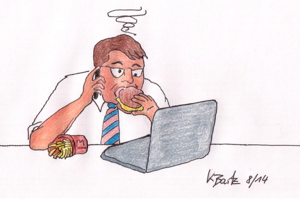 Essen zwischen Desktop & Terminen